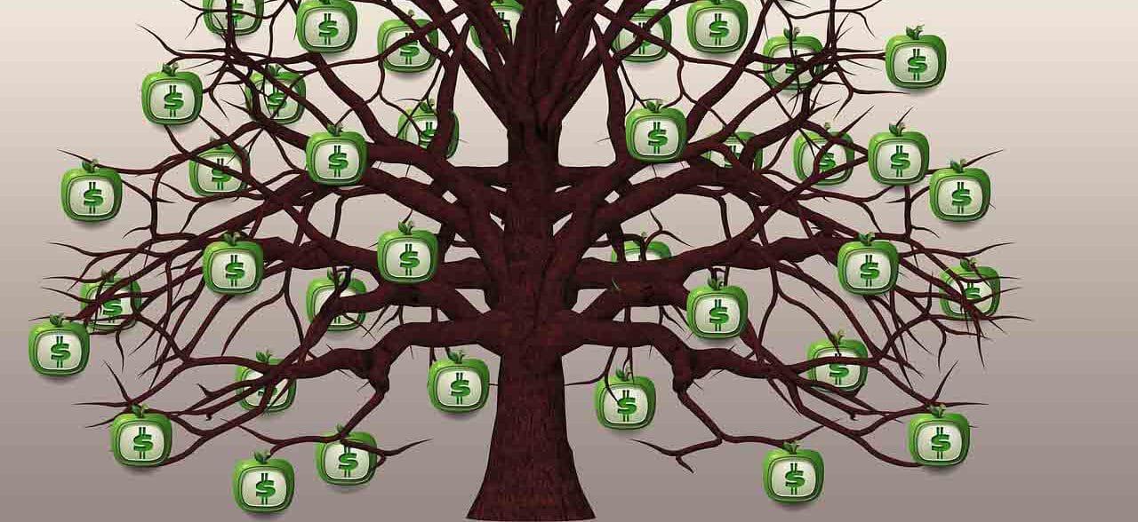 נכס דיגיטלי עץ של כסף